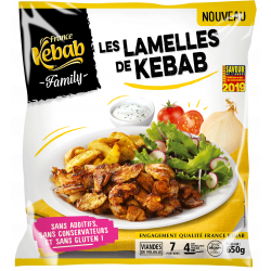 LAMELLES DE KEBAB FAMILY SANS ADDITIFS 650G