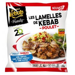 LAMELLES DE KEBAB FAMILY POULET FRANCAIS 650G