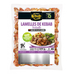 Lamelles de kebab volaille...