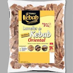 Lamelles de kebab oriental...