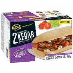Le sandwich kebab...
